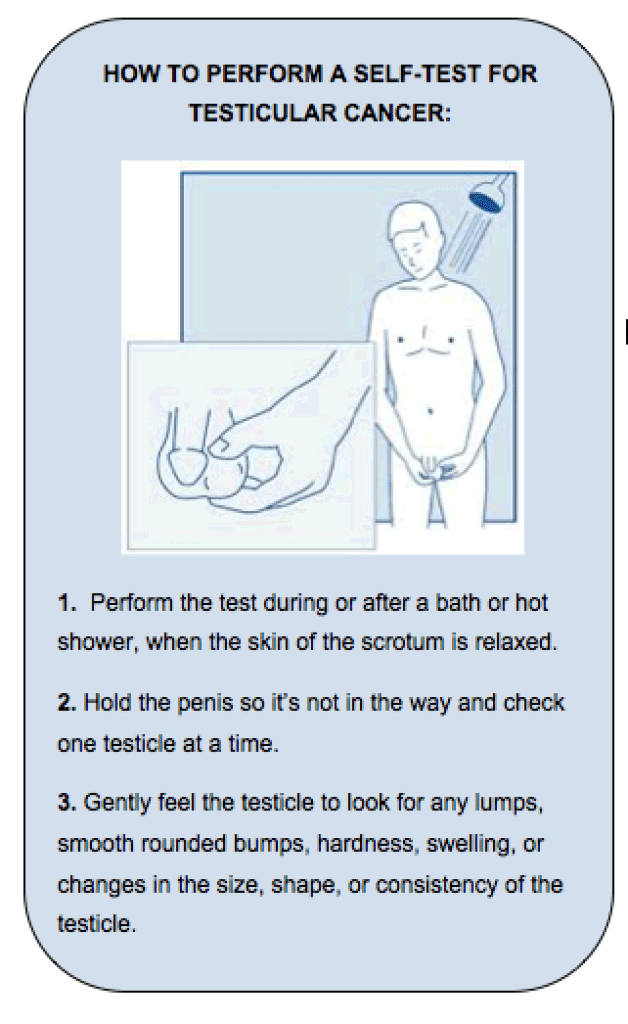 Testicular Cancer Self Exam